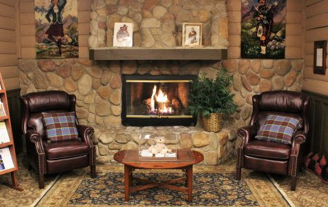 Cozy Fireplace to curl up with a good book!