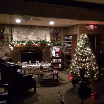 Beautifully decorated for the Holidays