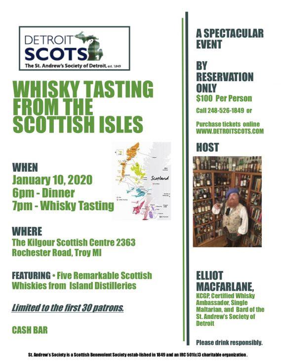 Scottish Isles Whisky Tasting