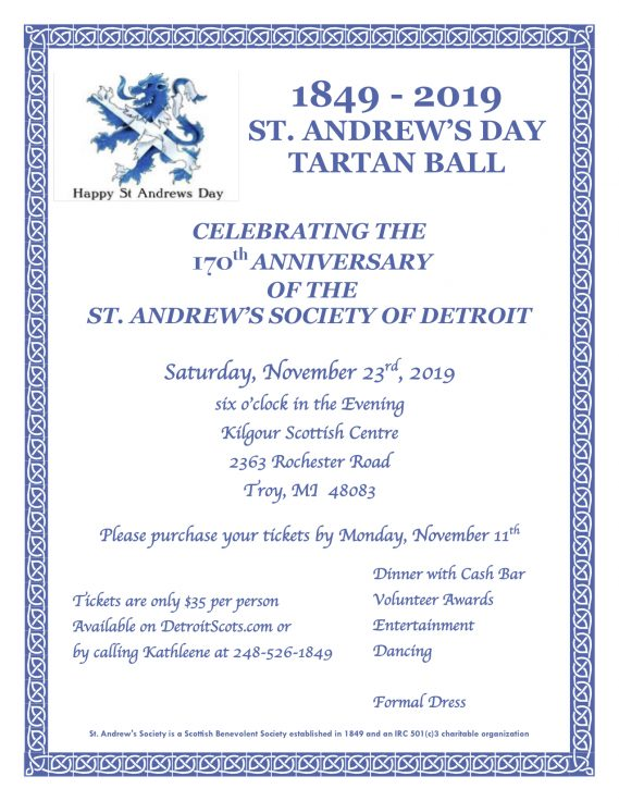2019 St Andrew's Day Ball