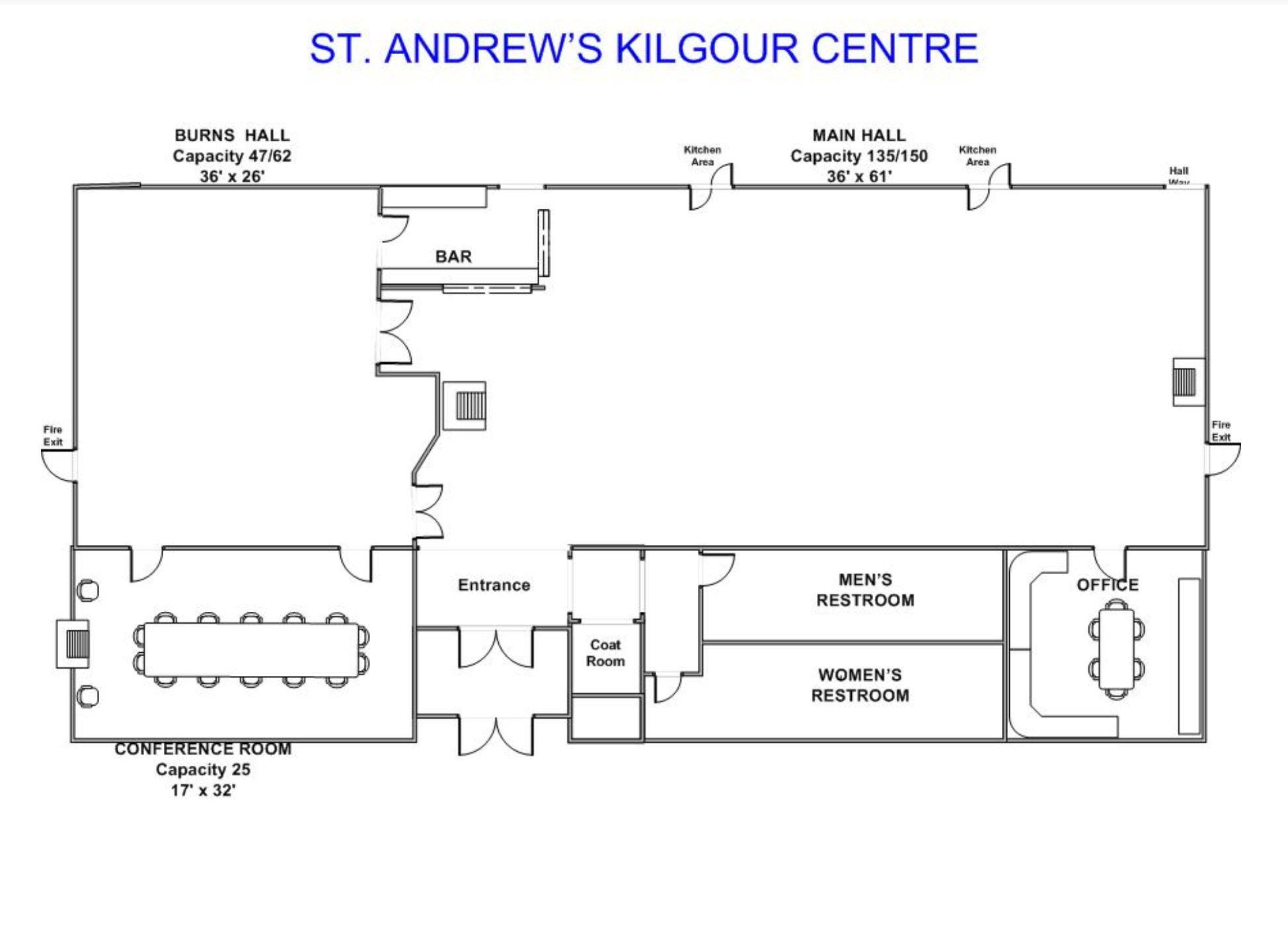 Kilgour Centre Floor Plan