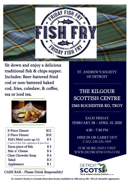 2020 Fish Fry Flyer