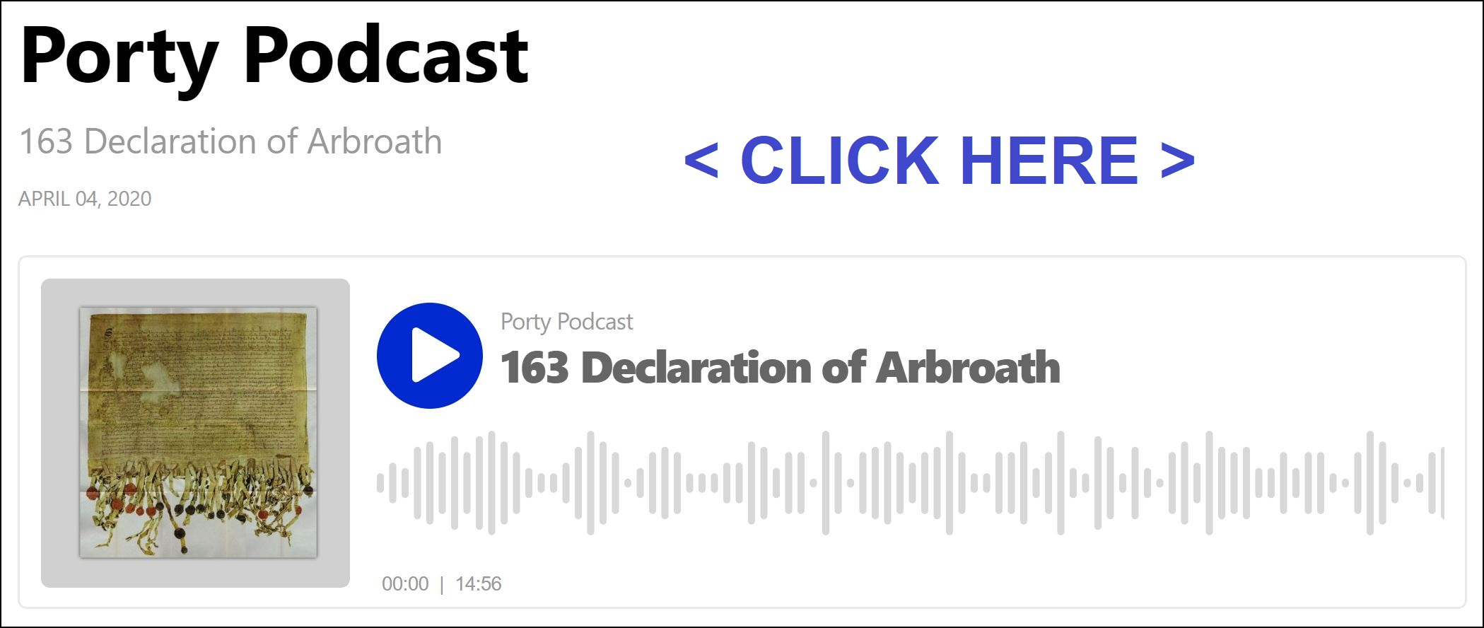 Porty Podcast - 163 Declaration of Arbroath