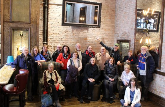 Members of St. Andrew's Society visit historical St. Andrew's Hall in Detroit.