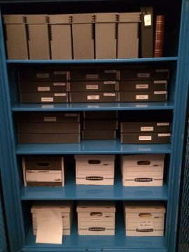 Just the beginning of archiving thousands of Society documents.