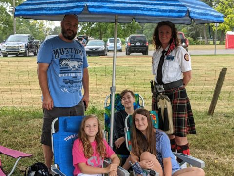 Scottish Family enjoying the day at Greenmead