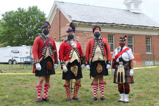 Grant's Company 42nd Highlanders, (Lt. Col. Jim Puzar & Sgt. Maj. David Keely, from Beaverton, MI)