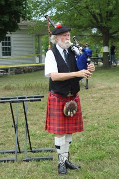 David Martin, our St. Andrew's Society Piper.