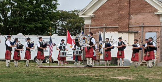 St. Andrew's Pipe Band Performing for the Opening