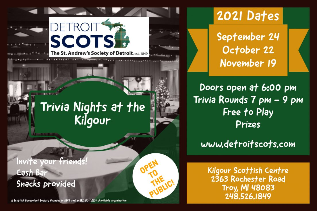 Trivia Nights at the Kilgour- Wide